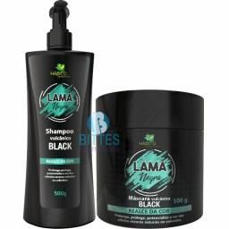 Shampoo e máscara lama negra Hábito cosméticos