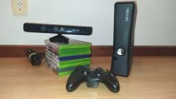 Xbox 360 com Kinect + 9 jogos
