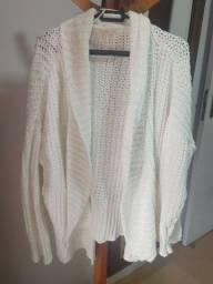 Cardigan tricô Grosso branco tamanho M