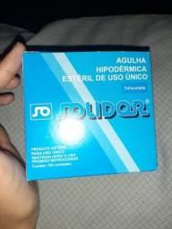 4 Soro Ringer Lacto 250ml + 4 Equipo+ caixa de agulhas hipodermica estéril trifacetada