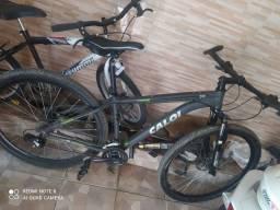 Bicicleta Caloi aro 29 freio hidráulico toda Shimano