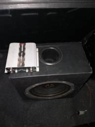 Caixa de som com alto falante 10 Pol