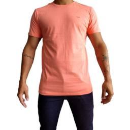 Camiseta básica kit c/3 unidades 100% algodão todos os tamanhos varias cores