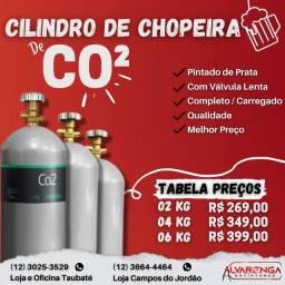Cilindro de CO² para Chopeira - Cilindro de Chopeira - Completo/Carregado