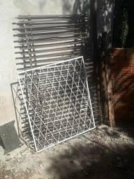 Grade jánela e portão frontal galvanizado