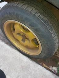 Roda aro 14 dourada