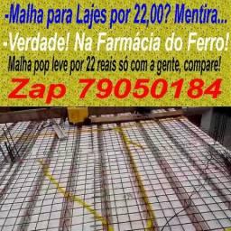Linha caseira de produção de malhas para lajes - vendo - zap 81 79050184