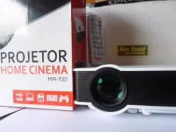 Projetor Home Cinema Data Show 7007 Profissional 800lumens