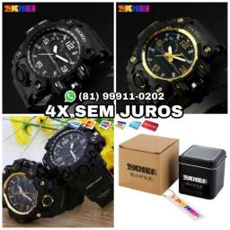 Relógio SKMEI 1155 Original + Caixa de metal + Garantia + Parcelamento em 4x Sem juros