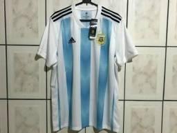 Camisa Seleção Argentina Home 2018 s n° Torcedor Adidas Masculina - Original f496688eea9