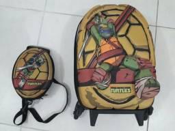 Mochilete + Lancheira Tartarugas Ninjas 3D