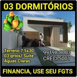 03 Dormitórios, aceita financiamento/ ÁGUAS CLARAS