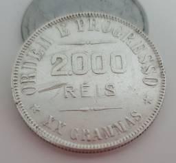Moeda Antiga 2000 Reis de 1907 para Colecionador