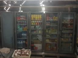 Expositor 05 portas para Frios, laticínios e bebidas Friomax