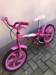Bicicleta infantil Barbie Caloi Aro 16