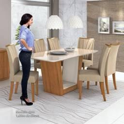 Mesa Nova Apogeu Com 6 Cadeiras - Frete Grátis