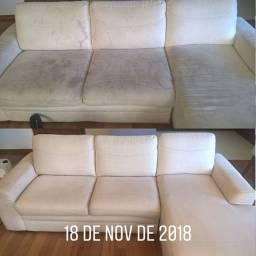 Limpeza e higienização de sofá em domicilio