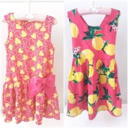 Lote de vestidinhos infantil Tam 08 * Leia Descrição *