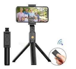 Bastão Pau Selfie Tripé Controle Bluetooth Retrátil Celular