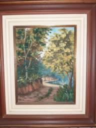 Lindo quadro pintura a óleo