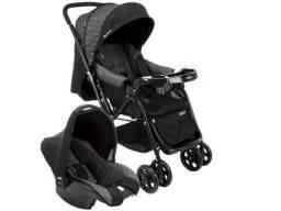 Carrinho de Bebê com Bebê Conforto Cosco - 0 a 15kg (Aceito cartão)