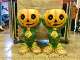 Espantalho e Abóboras de Halloween!