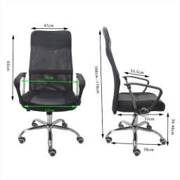 Cadeira Escritório Presidente com rodas - Lindíssima!!!