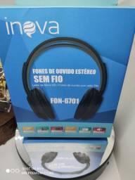 Fone de Ouvido sem fio com rádio FM