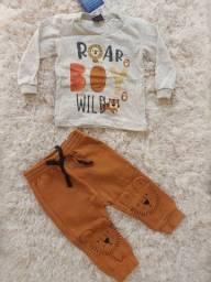 Conjunto blusa+calça  leão  0-3 meses
