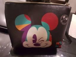 Necessaire Mickey Piscando 15x4x17cm 90 Anos - Disney