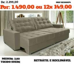 Liquida Londrina - Sofa Retratil e Reclinavel 2,80 - Direto da Fabrica
