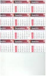 Bloquinhos para calendários