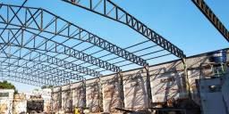 Pavilhões galpão estrutura metálica telhado