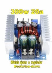 Fonte Regulador de Voltagem e Amperagem 300 W 20a arduino