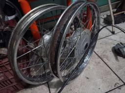 Rodas de alumínio- SEMI NOVAS.-tambor