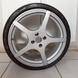 Roda 17 pneu 195 40 17
