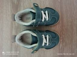 Sapatênis de couro verde Klin número 19