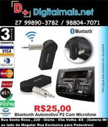 Promoção Bluetooth Carro Automotivo P2 Com Microfone