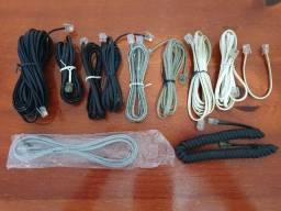 Diversos Cabos E Conectores Para Telefone Fixo E Modem