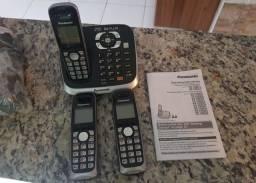 Telefone sem fio Panasonic com 3 pontos!
