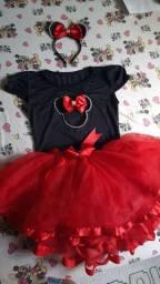 Fantasia Tal Mãe & Filha Minnie vermelha