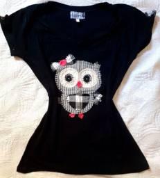 Camisa Feminina Coruja