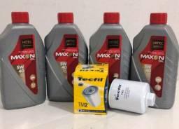 Troca de Óleo VolksWagen Gol G7 VII 1.0 12V L4 MSI 5w40 Maxon e Filtro de Óleo Tecfil TM2