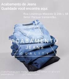 Fazemos acabamento em jeans em geral