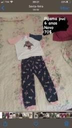 Pijama puc 6 anos