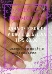 Alongamento a Domicílio * Fibra de Vidro / Gel na Tips