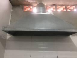 Coifa Industrial com Exaustor e Tubulação
