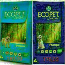 Ração Ecopet Natural Premium Adulto 22kg e Júnior 20kg