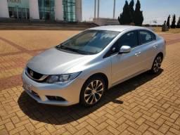 Civic 2015 LXR 87 mil.km central multimídia novo