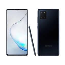 Samsung Galaxy Note 10 Lite Preto, 128GB, 6GB Ram, Lacrado e Garantia de 1 ano